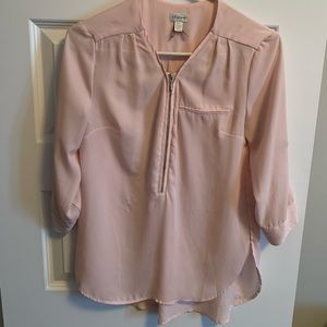 Light Pink Flowy Top / Blouse